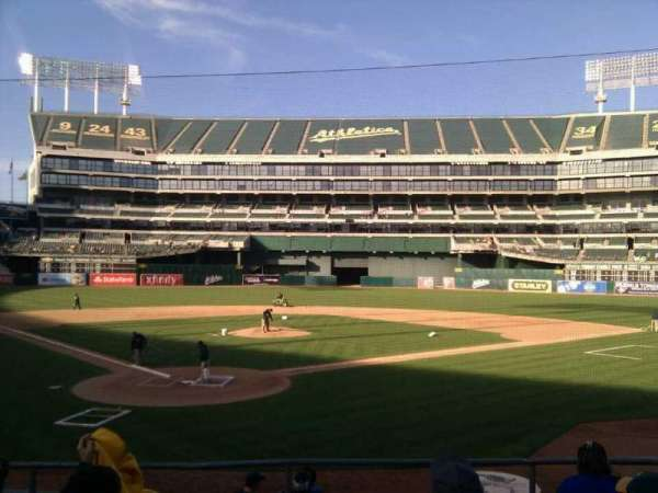 Oakland Coliseum, secção: 116, fila: 18, lugar: 12