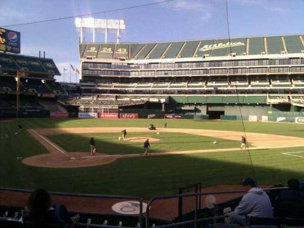 Oakland Coliseum, secção: 115, fila: 18, lugar: 16