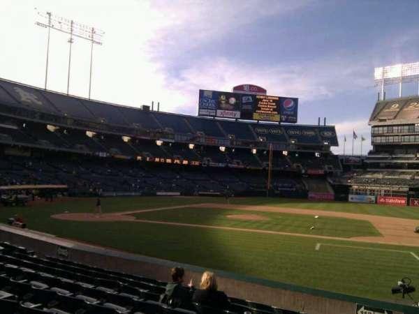 Oakland Coliseum, secção: 112, fila: 13, lugar: 15
