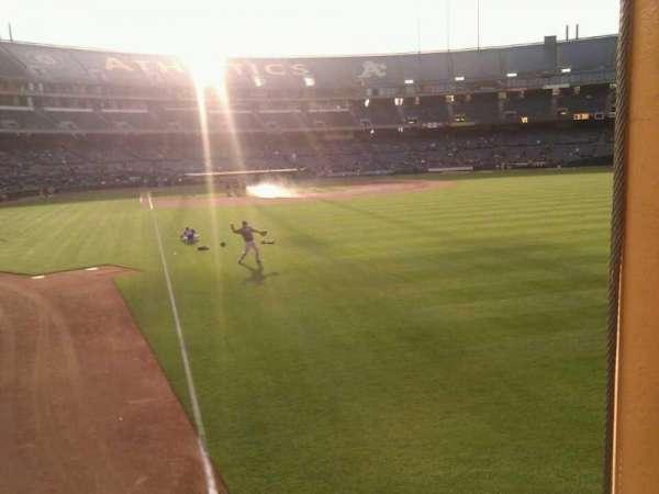 Oakland Coliseum, secção: 103, fila: 17, lugar: 6