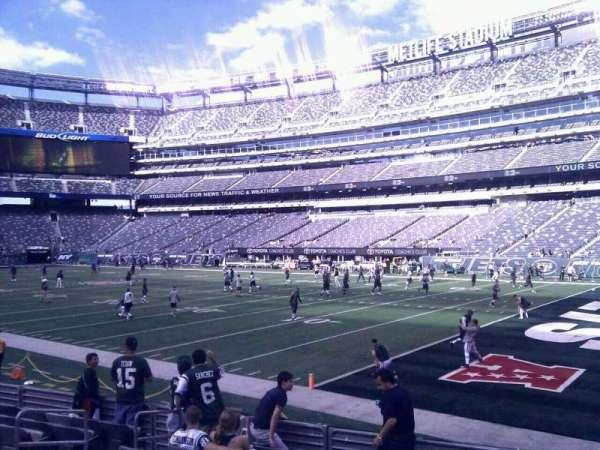 MetLife Stadium, secção: 133, fila: 8, lugar: 11