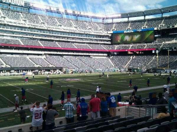 MetLife Stadium, secção: 142, fila: 10, lugar: 12