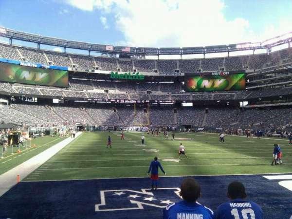 MetLife Stadium, secção: 104, fila: 3, lugar: 2