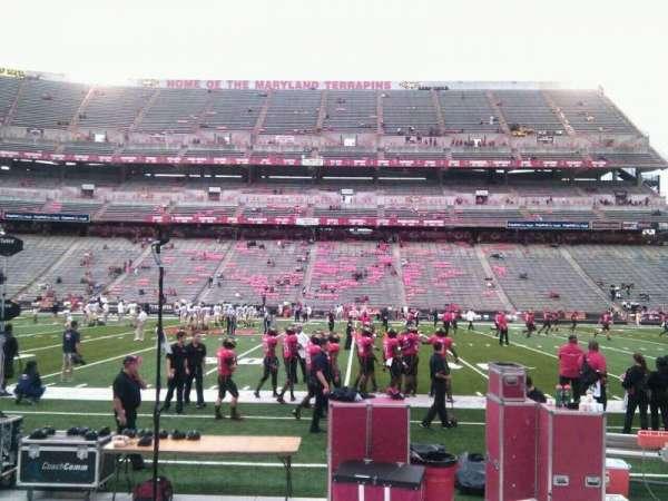 Maryland Stadium, secção: 25, fila: e, lugar: 19