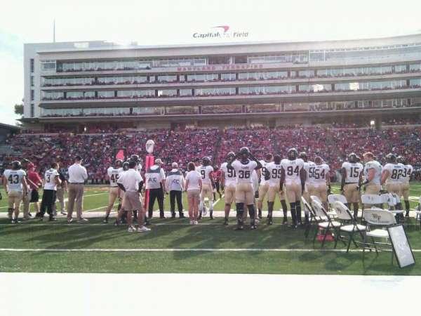 Maryland Stadium, secção: 6, fila: a, lugar: 17
