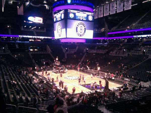 Barclays Center, secção: 103, fila: 6, lugar: 11