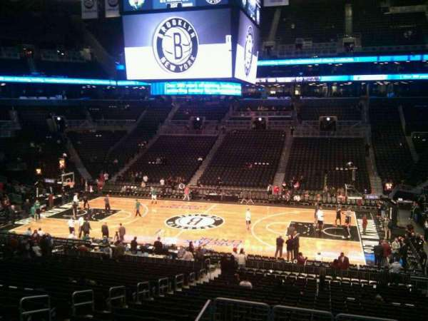 Barclays Center, secção: 107, fila: 6, lugar: 9