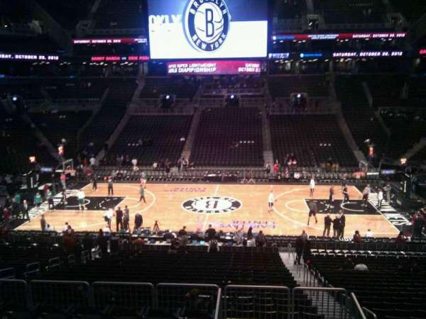 Barclays Center, secção: 108, fila: 7, lugar: 3