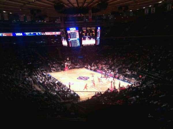 Madison Square Garden, secção: 202, fila: 2, lugar: 6