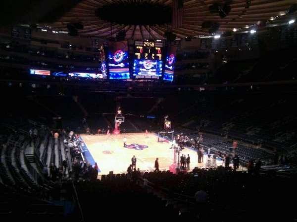 Madison Square Garden, secção: 111, fila: 8, lugar: 12