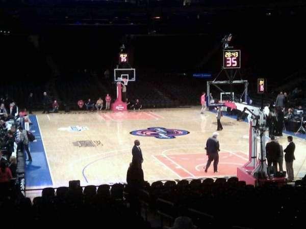 Madison Square Garden, secção: 111, fila: 9, lugar: 7