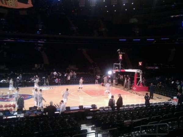 Madison Square Garden, secção: 107, fila: 7, lugar: 14