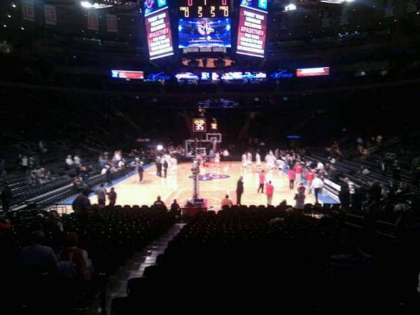 Madison Square Garden, secção: 102, fila: 8, lugar: 11