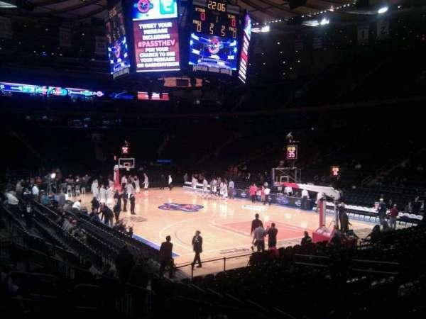 Madison Square Garden, secção: 120, fila: 9, lugar: 10