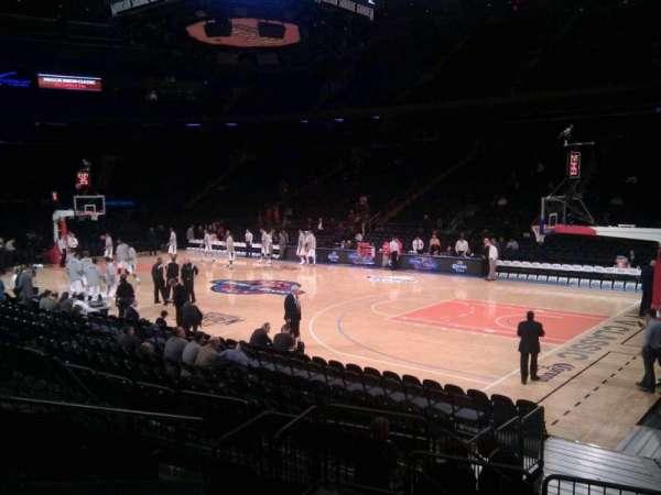 Madison Square Garden, secção: 119, fila: 7, lugar: 5