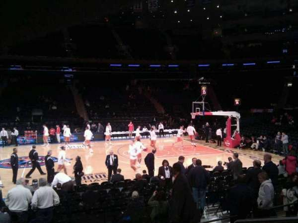 Madison Square Garden, secção: 117, fila: 6, lugar: 13