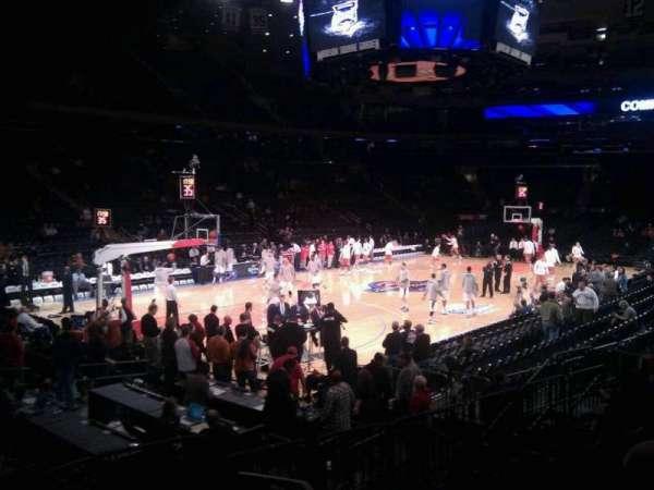 Madison Square Garden, secção: 114, fila: 8, lugar: 1