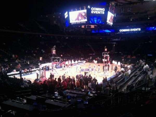 Madison Square Garden, secção: 114, fila: 11, lugar: 4