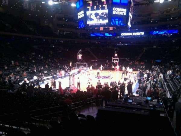 Madison Square Garden, secção: 113, fila: 10, lugar: 10