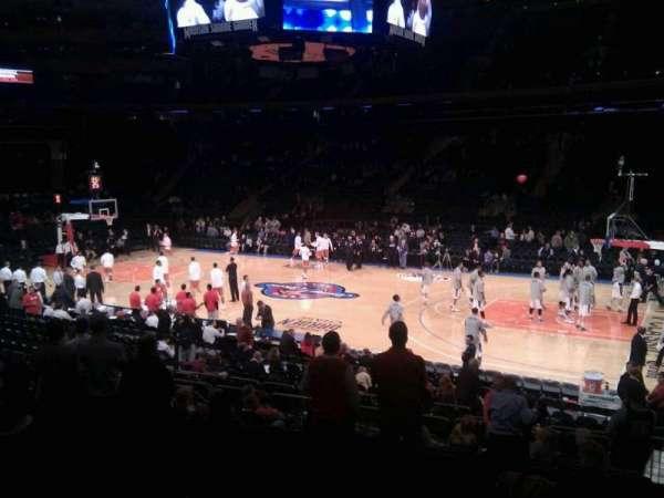 Madison Square Garden, secção: 108, fila: 12, lugar: 20