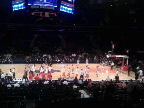 Madison Square Garden, secção: 107, fila: 13, lugar: 13