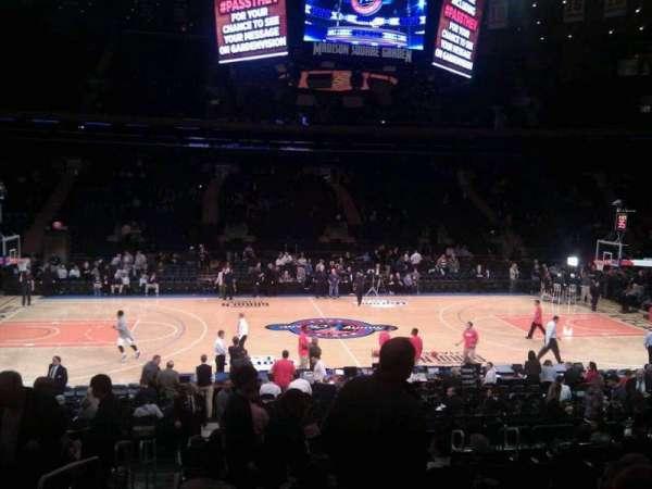 Madison Square Garden, secção: 107, fila: 13, lugar: 1