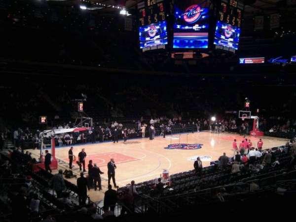 Madison Square Garden, secção: 105, fila: 12, lugar: 2