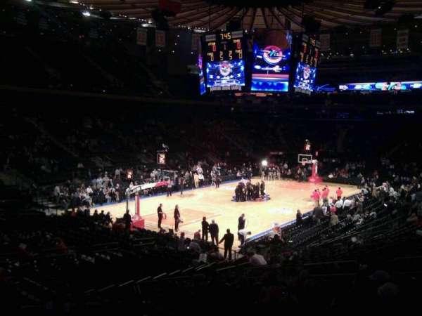 Madison Square Garden, secção: 104, fila: 17, lugar: 10