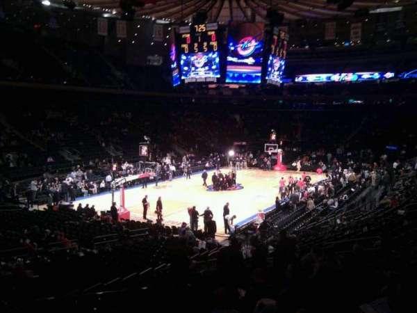 Madison Square Garden, secção: 104, fila: 17, lugar: 3