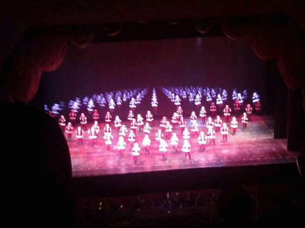 Radio City Music Hall, secção: 3rd Mezzanine 4, fila: b, lugar: 410