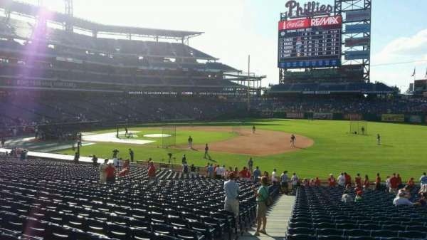 Citizens Bank Park, secção: 113, fila: 34, lugar: 21