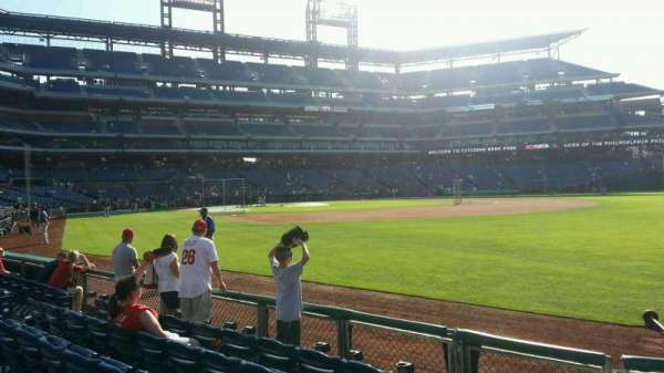 Citizens Bank Park, secção: 110, fila: 6, lugar: 9