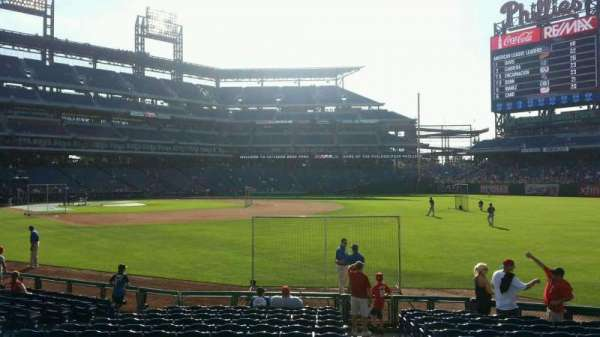 Citizens Bank Park, secção: 110, fila: 15, lugar: 1