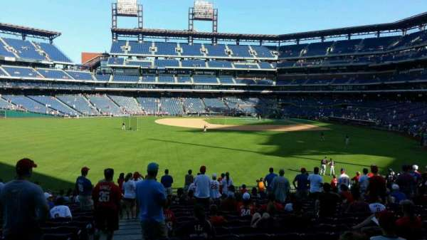 Citizens Bank Park, secção: 144, fila: 20, lugar: 20