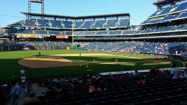Citizens Bank Park, secção: 132, fila: 27, lugar: 18