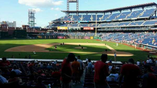 Citizens Bank Park, secção: 129, fila: 29, lugar: 8