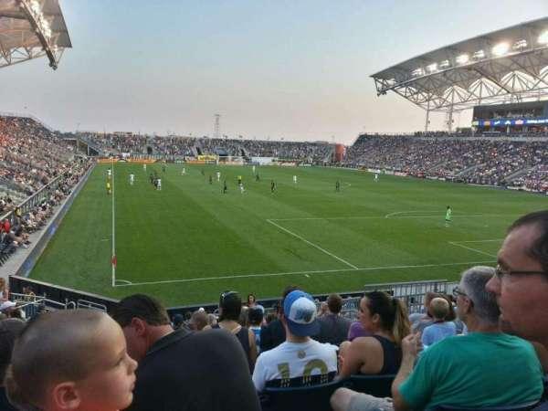 Talen Energy Stadium, secção: 120, fila: r, lugar: 10
