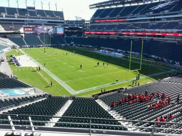 Lincoln Financial Field, secção: NE Terrace 2, fila: 3, lugar: 15