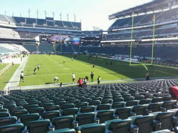 Lincoln Financial Field, secção: 128, fila: 19, lugar: 10