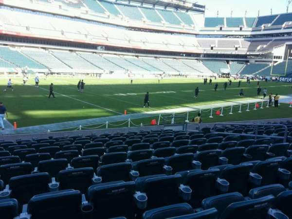 Lincoln Financial Field, secção: 134, fila: 11, lugar: 10