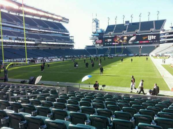 Lincoln Financial Field, secção: 112, fila: 10, lugar: 9