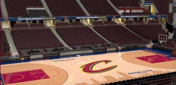 Quicken Loans Arena, secção: C107, fila: 20