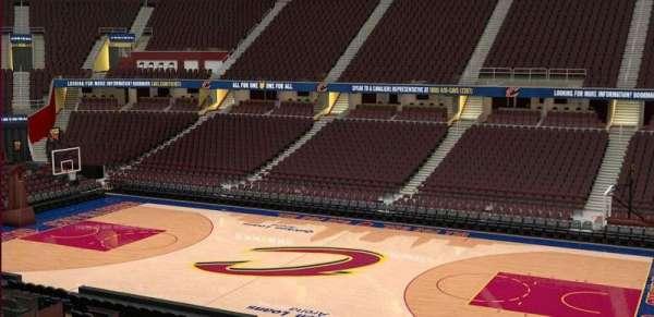 Quicken Loans Arena, secção: C127, fila: 20
