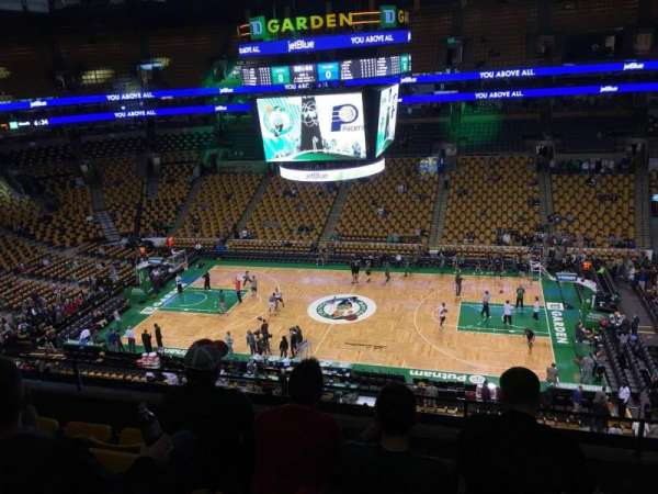 TD Garden, secção: Bal 330, fila: 5, lugar: 6