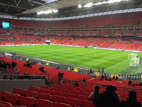 Wembley Stadium, secção: 117, fila: 40, lugar: 178