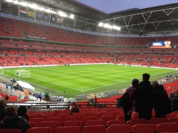 Wembley Stadium, secção: 107, fila: 39, lugar: 127