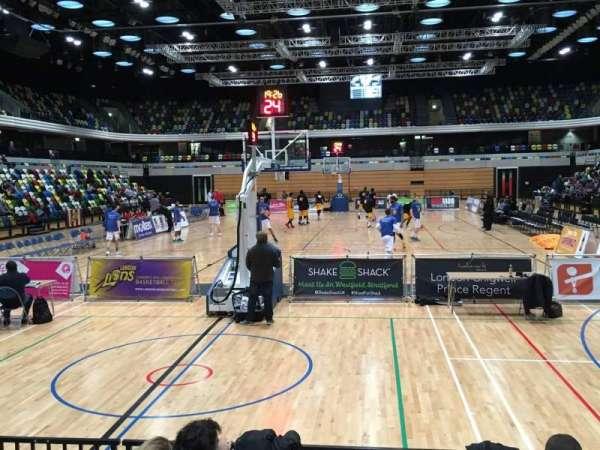 Copper Box Arena, secção: 114, fila: 5, lugar: 50