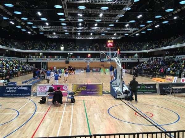 Copper Box Arena, secção: 101, fila: 5, lugar: 62
