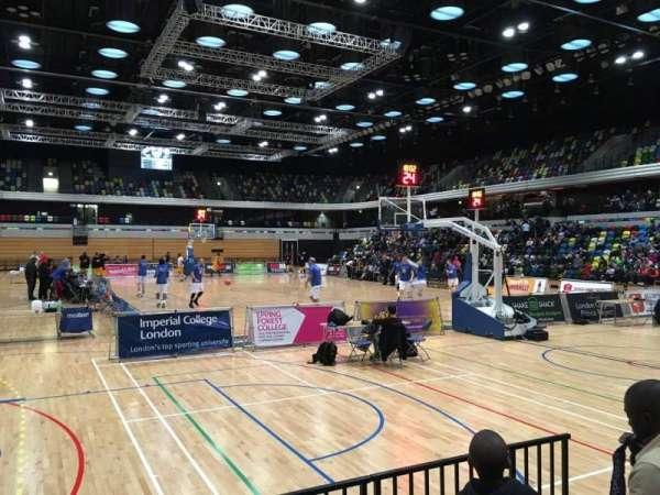 Copper Box Arena, secção: 101, fila: 4, lugar: 76