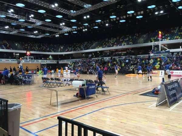 Copper Box Arena, secção: 103, fila: 2, lugar: 42